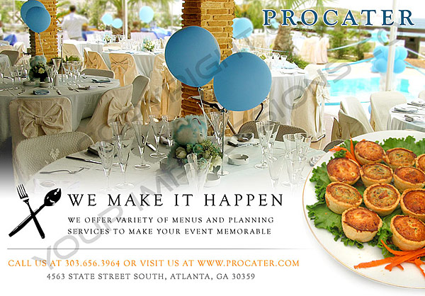 catering postcard