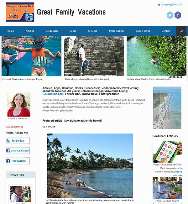 Travel Journalist client website