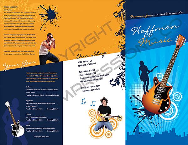 Music Store Brochure