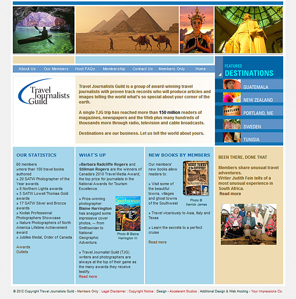 Travel journalists site