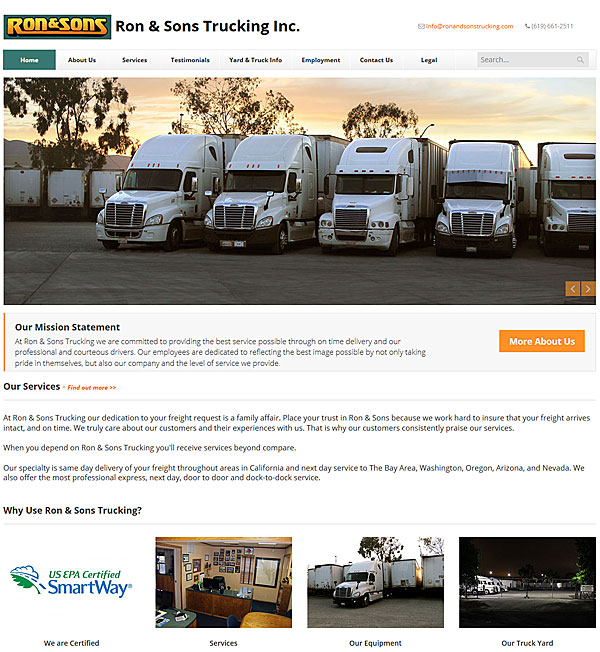 Trucking Company Site